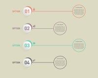 Ilustração do vetor do elemento do projeto do molde da bandeira de Infographic Fotos de Stock Royalty Free