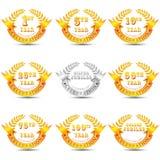 Emblema da celebração do aniversário Foto de Stock