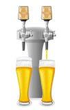 Ilustração do vetor do equipamento da cerveja Imagens de Stock