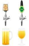 Ilustração do vetor do equipamento da cerveja Imagem de Stock