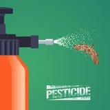 Ilustração do vetor do equipamento do pulverizador do controle de insetos da praga para a agricultura ilustração do vetor