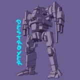 Ilustração do vetor do exército do robô Foto de Stock