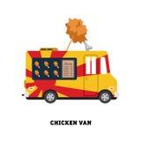 Ilustração do vetor do fast food do reboque isolada Imagens de Stock