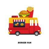 Ilustração do vetor do fast food do reboque isolada Foto de Stock