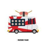 Ilustração do vetor do fast food do reboque isolada Imagem de Stock