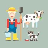 Ilustração do vetor do fazendeiro Foto de Stock