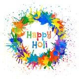 Ilustração do vetor do festival indiano Holi feliz Foto de Stock