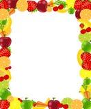 Ilustração do vetor do frame da fruta Foto de Stock