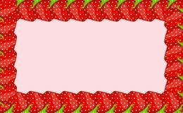 Ilustração do vetor do frame da morango Imagem de Stock Royalty Free