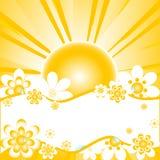 Ilustração do vetor do fundo colorido do verão Fotos de Stock Royalty Free