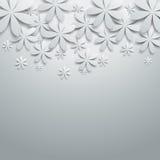Fundo com flores de papel Imagem de Stock