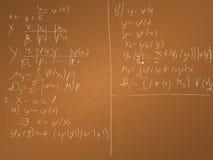 Ilustração do vetor do fundo da matemática Imagens de Stock Royalty Free