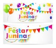 Ilustração do vetor do fundo de Festa Junina Imagens de Stock
