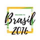 Ilustração 2016 do vetor do fundo de Rio de janeiro Brasil Foto de Stock Royalty Free