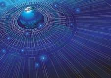 Ilustração do vetor do fundo do conceito da tecnologia do mundo Imagem de Stock