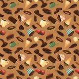 Ilustração do vetor do fundo dos doces do chocolate ilustração stock