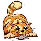 Ilustração do vetor do gatinho do gengibre Foto de Stock Royalty Free