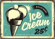 Ilustração do vetor do gelado do vintage ilustração royalty free