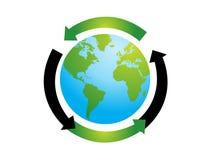Ilustração do vetor do globo do mundo Foto de Stock