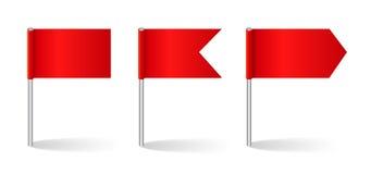 Ilustração do vetor do grupo das bandeiras Fotografia de Stock Royalty Free