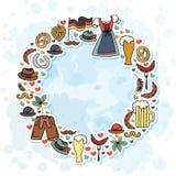 Ilustração do vetor do grupo de elementos de Oktoberfest Imagem de Stock Royalty Free