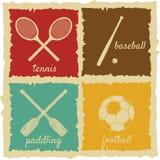 Grupo de etiquetas do esporte do vintage ilustração stock