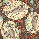 Ilustração do vetor do guaxinim bonito Foto de Stock Royalty Free