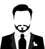 Ilustração do vetor do homem à moda no terno Foto de Stock