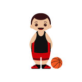 Ilustração do vetor do jogador de basquetebol dos desenhos animados Imagem de Stock