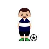 Ilustração do vetor do jogador de futebol dos desenhos animados Fotografia de Stock Royalty Free