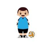 Ilustração do vetor do jogador de voleibol dos desenhos animados Fotografia de Stock Royalty Free