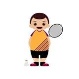 Ilustração do vetor do jogador do badminton dos desenhos animados ilustração royalty free