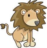Ilustração do vetor do leão do safari Foto de Stock