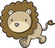 Ilustração do vetor do leão do safari Foto de Stock Royalty Free