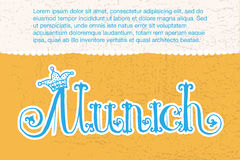 Ilustração do vetor do logotype de Munich Fotos de Stock
