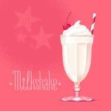 Ilustração do vetor do milk shake, elemento do projeto ilustração stock
