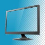 Ilustração do vetor do modelo do monitor do computador Fotografia de Stock Royalty Free