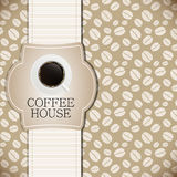 Ilustração do vetor do molde do menu da casa do café Imagem de Stock Royalty Free