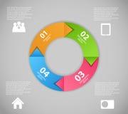 Ilustração do vetor do molde do negócio de Infographic Foto de Stock Royalty Free