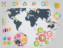 Ilustração do vetor do molde do negócio de Infographic Fotografia de Stock Royalty Free