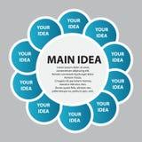 Ilustração do vetor do molde do negócio de Infographic ilustração stock