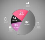Ilustração do vetor do molde do negócio de Infographic Fotos de Stock Royalty Free