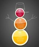 Ilustração do vetor do molde do negócio de Infographic Imagem de Stock Royalty Free