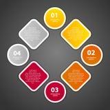 Ilustração do vetor do molde do negócio de Infographic Foto de Stock