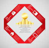 Ilustração do vetor do molde do negócio de Infographic Fotografia de Stock