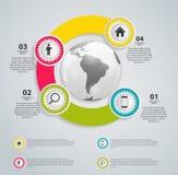 Ilustração do vetor do molde do negócio de Infographic Imagens de Stock Royalty Free