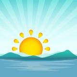 Ilustração do vetor do nascer do sol Fotografia de Stock Royalty Free
