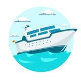 Ilustração do vetor do navio do forro do cruzeiro ilustração royalty free
