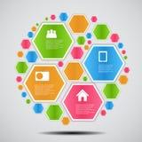 Ilustração do vetor do negócio do molde de Infographic Imagens de Stock Royalty Free