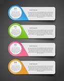Ilustração do vetor do negócio do molde de Infographic Fotografia de Stock